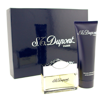 buy S. T. Dupont Dupont Homme Coffret: Eau De Toilette Spray 50ml + After Shave Balm 100ml 2pcs  skin care shop