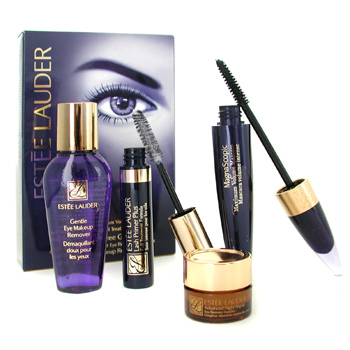 Estee Lauder Travel Exclusive For Eyes: MagnaScopic Mascara+Lash Primer Plus+Adv Night Repair Eye+Eye M/U Remover 4pcs