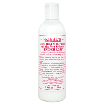 Kiehl's Deluxe Hand & Body Lotion With Aloe Vera & Oatmeal - French Rose