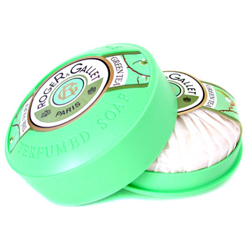 Roger & Gallet Green Tea Perfumed Soap ( With Case ) 150g/5.2oz
