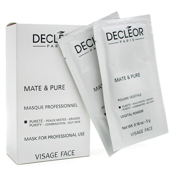 Decleor Mate & Pure Mask Vegetal Powder - Combination to Oily Skin ( Tamaño Salón )
