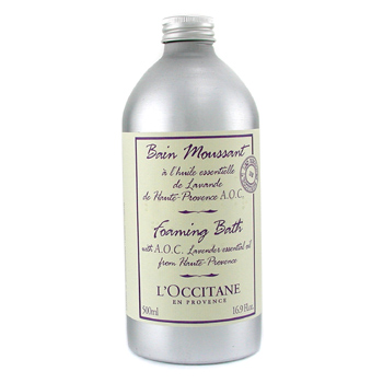 Para a pele da mulher, L'Occitane, L'Occitane Foaming Bath with A.O.C Lavender Essential Oil 500ml/16.9oz