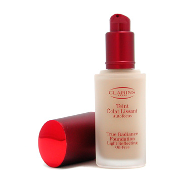 Clarins True Radiance Base de Maquillaje Light Reflecting Oil Free - Base Maquillaje Iluminadora Lib