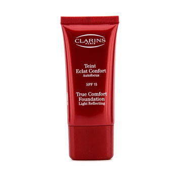 Clarins True Comfort Base de Maquillaje Light Reflecting - Base Maquillaje SPF 15 - #02 Pale Ivory