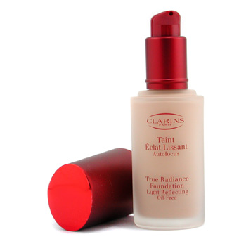 Maquiagens, Clarins, Clarins True Radiance Foundation Light Reflecting Oil Free - #06 Praline 30ml/1.06oz