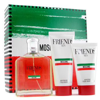 Moschino Friends Estuche : Colonia Vaporizador 125ml + Bálsamo Después Afeitado 50ml + Gel Ducha 100