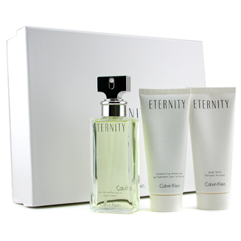 Calvin Klein Eternity Coffret: Eau De Parfum Spray 100ml + Body Lotion 100ml + Shower Gel 100ml 3pcs