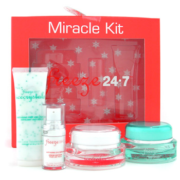 Freeze 24/7 Miracle Kit: exfoliante + Anti Arrugas crema + Int. Anti Envejecimiento Hidratante+ Seru