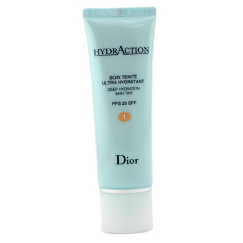 Para a pele da mulher, Christian Dior, Christian Dior HydrAction Deep Hydration Skin Tint SPF 20 - # 01 Porcelain 50ml/1.7oz