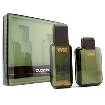 buy Puig Quorum Coffret: Eau De Toilette Spray 100ml/3.4oz + After Shave Lotion Splash 100ml/3.4oz 2pcs  skin care shop