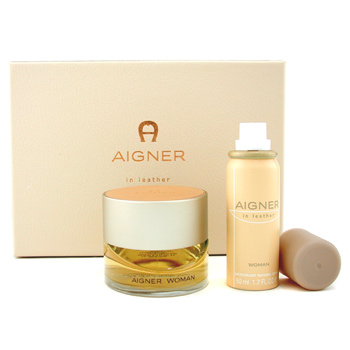 Perfumes femininos, Aigner, Aigner Aigner In Leather Coffret: perfume Spray 75ml + Deodorant Spray 50ml 2pcs