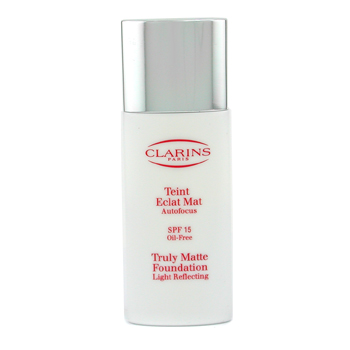 Clarins Truly Matte Base de Maquillaje Light Reflecting - Base Maquillaje Matificante SPF15 - # 08 S