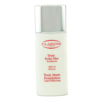 Clarins Truly Mate Foundation Light Reflecting - Base Maquillaje SPF15 - # True Camel