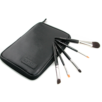Laura Mercier Travel Brush Set ( 5x Travel Length Brush  1x Brush Case ) 5pcs+1case