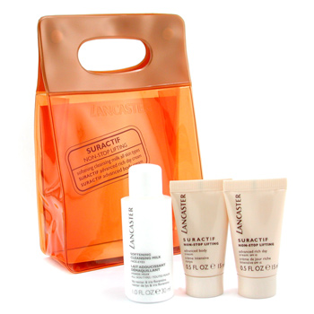 Lancaster Suractif Non Stop Lifting Travel Set: Cleanser + Day Cream + Body Cream + Bag 3pcs+1bag