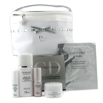 Para a pele da mulher, Christian Dior, Christian Dior Diorsnow Set: Cleanser 50ml+ Cream 15ml+ Essence 5ml+ C. Eye Mask+ C. Total Essc. 10ml+ C. R-Mask+ Bag 6pcs+1bag