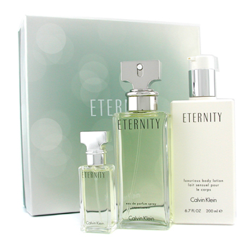 Calvin Klein Eternity Coffret: Eau De Parfum Spray 100ml+ Eau De Parfum Spray 15ml+ Body Lotion 200ml 3pcs