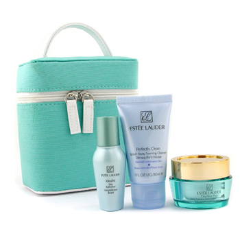 Estee Lauder Travel Set: Daywear Plus Crm 15ml+ Perfectly Clean Cleanser 30ml+ Idealist Skin Refinisher 15ml+ Bag 3pcs+1bag