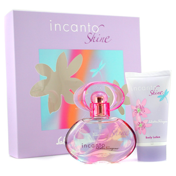 Salvatore Ferragamo Incanto Shine Coffret: Eau De Toilette Spray 30ml + Body Lotion 50ml 2pcs