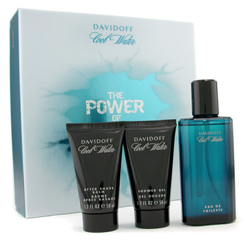 Perfumes masculinos, Davidoff, Davidoff Cool Water Coffret: perfume Spray 75ml + Shower Gel 50ml + After Shave Balm 50ml 3pcs