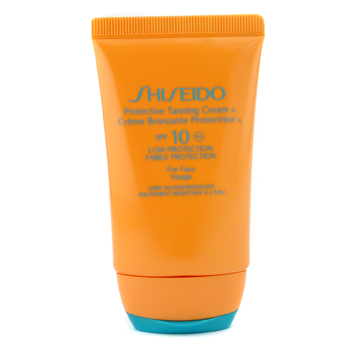Para a pele da mulher, Shiseido, Shiseido Protective Tanning Cream N SPF 10 ( For Face ) 50ml/1.7oz