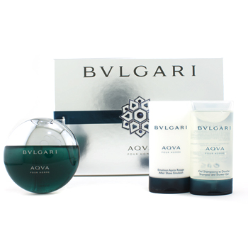 buy Bvlgari Aqva Pour Homme Coffret: Edt Spray 50ml/1.7oz + Shampoo & Shower Gel 75ml/2.5oz + After Shave Emulsion 75ml/2.5oz 3pcs  skin care shop