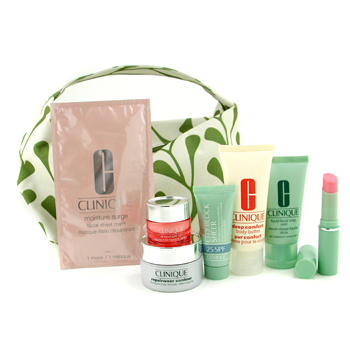Clinique Set de Viaje: Jabón Líquido 30ml+ Ojos 7ml+ Contorno Reparador 15ml+ City Block Sheer 15ml+