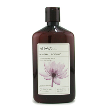 Para a pele da mulher, Ahava, Ahava Mineral Botanic Velvet Cream Wash - Lotus Flower & Chestnut ( Sensitive Skin ) 500ml/17oz