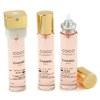 Perfumes femininos, Chanel, Chanel Coco Mademoiselle Twist &amp; Spray perfume Refill 3x20ml