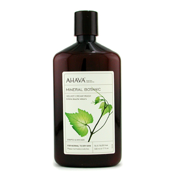 Ahava Mineral Botanic Velvet Cream Wash - Grape & Avocado ( Normal to Dry Skin ) 500ml/17oz