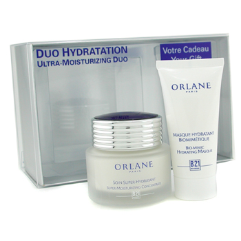 Orlane Duo Hydratation: Super Moisturizing Concentrate 50ml + Bio-Mimic Hydrating Masque 30ml 2pcs