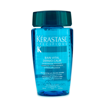 buy Kerastase Kerastase Dermo-Calm Bain Vital Shampoo (Sensitive Scalps & Normal to Combination Hair) 250ml by Kerastase skin care shop