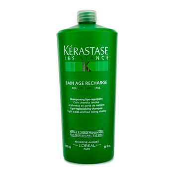 buy Kerastase Kerastase Resistance Bain Age Recharge Shampoo (For Tight Scalps & Hair Losing Vitality) 1000ml/34oz by Kerastase skin care shop