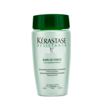 buy Kerastase Kerastase Resistance Bain De Force Reinforcing And Refinishing Shampoo (Weakened Hair) 250ml/8.5oz by Kerastase skin care shop