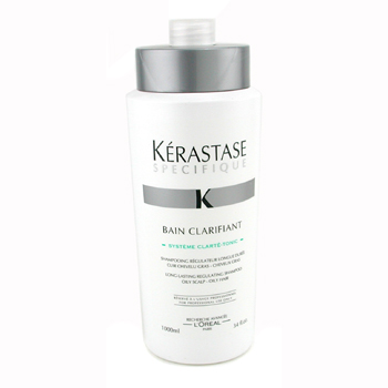 Kerastase Specifique Bain Clarifant Long Lasting Regulating Shampoo ( For Oily Scalp & Hair ) 1000ml/34oz