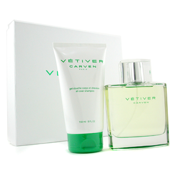 Carven Vetiver Estuche:Agua de Colonia Vaporizador 100ml + Champú Multiusos 150ml