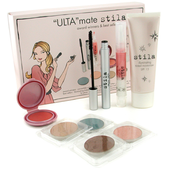 Stila 'Best of Stila' Ulta Mate Stila 8-Piece Set: 4x EyeShadow+ 1x Illuminating Tinted Moisturizer+ 1x LipGlaze..... 8pcs