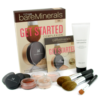Bare Escentuals 100% Pure BareMinerals Set Cutis - Fair ( 2xMaquillaje Spf15+Velo Mineral+Color Rost