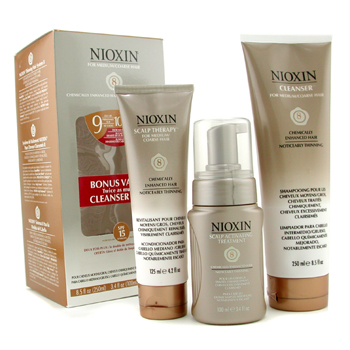 Nioxin System 8 Thinning Hair Kit For Medium/Coarse Hair  Chemically Enhanced Hair  Noticeably Thinning Hair 3pcs