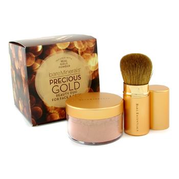 Bare Escentuals Precious Gold Beauty Duo: BareMinerals Precious Gold Color Rostro y Cuerpo 15g + Gol