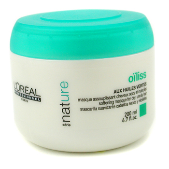 Cuidados com o cabelo, L'Oreal, L'Oreal Professionnel Nature Serie - Oiliss Masque ( For Dry  Unruly Hair ) 200ml/6.7oz