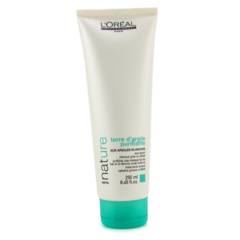 L'Oreal Professionnel Nature Serie - Terre D'argile Purifiante Clay Masque ( For Oily Hair or To Remove Scalp Build-Up ) 250ml/8.45oz