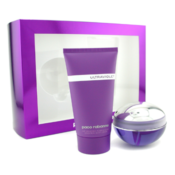 Paco Rabanne Ultraviolet Coffret: Eau De Parfum Spray 80ml + Body Lotion 150ml 2pcs