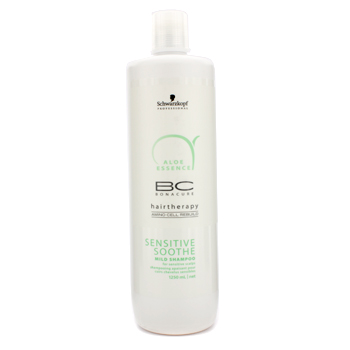 buy Schwarzkopf BC Aloe Essence Sensitive Soothe Mild Shampoo (For Sensitive Scalps) 1250ml/41.67oz by Schwarzkopf skin care shop