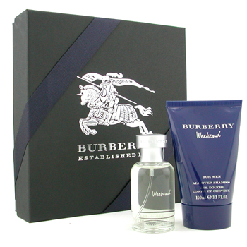 buy Burberry Weekend Coffret: Eau De Toilette Spray 50ml/1.7oz + All Over Shampoo 100ml/3.3oz 2pcs  skin care shop