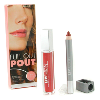 Fusion Beauty Full Out Pout Lip Plump Set - Color Shine ( # Fresh ) + Pencil ( # Pout ) 2pcs