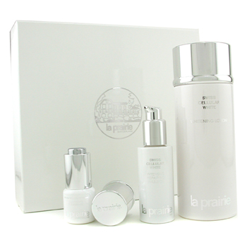 La Prairie Swiss Cellular White Set: Loción 250ml + Emulsion 30ml + Esencia Ojos 15ml