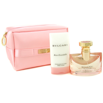 Bvlgari Rose Essentielle Coffret: Eau De Parfum Spray 50ml + Body Lotion 75ml + Pink Bag 2pcs+1bag