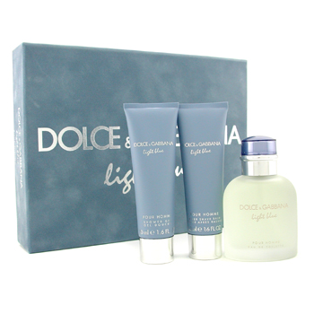 Dolce & Gabbana Homme Light Blue Coffret: Eau De Toilette Spray 75ml+ After Shave Balm 50ml+ Shower Gel 50ml 3pcs