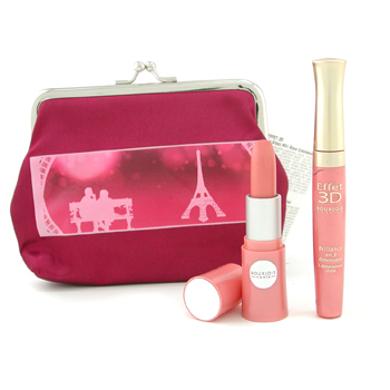 Bourjois Set Lovely Lips: Gloss Labial Effet 3D + Lovely Rouge Pintalabios + Neceser